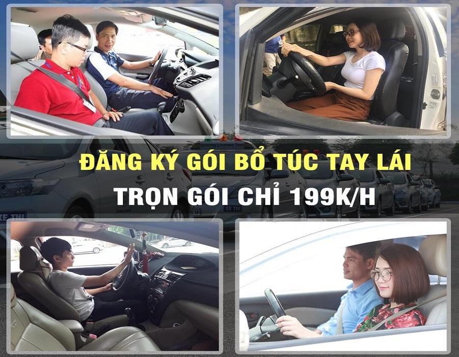 Bổ túc tay lái, thuê xe tập lái giá rẻ trọn gói 100%